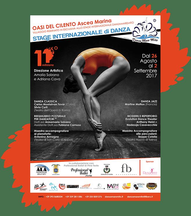 DanzaMareMito | Stage Internazionale di Danza Ascea Salerno Amalia Salzano Locandina
