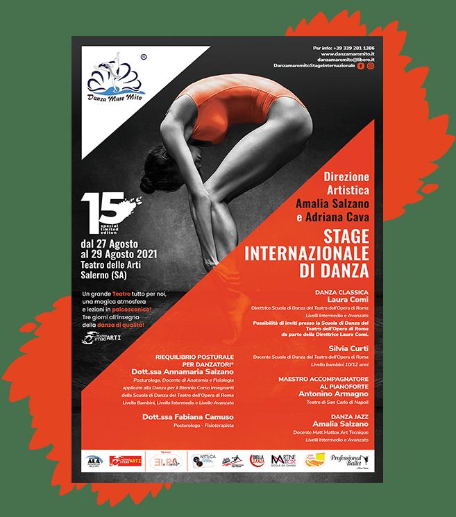 DanzaMareMito | Stage Internazionale di Danza Teatro delle Arti Salerno Locandina