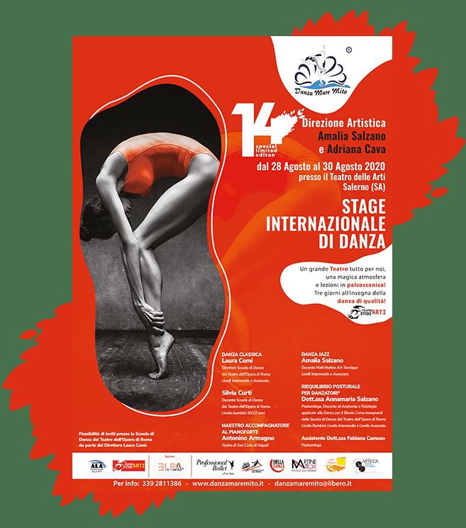 DanzaMareMito   Stage Internazionale di Danza Teatro delle Arti Salerno Locandina