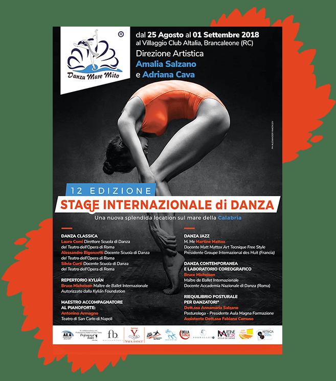 DanzaMareMito | Stage Internazionale di Danza Reggio Calabria Amalia Salzano Locandina